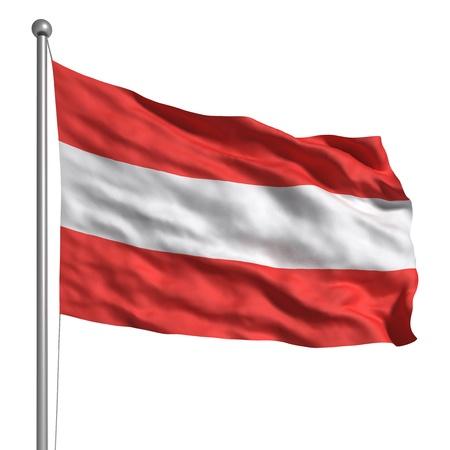 Bandiera dell'Austria Archivio Fotografico - 9646564