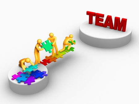 Being Team. Stock Photo - 9646554
