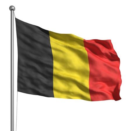 belgie: Vlag van België (geïsoleerd) Stockfoto
