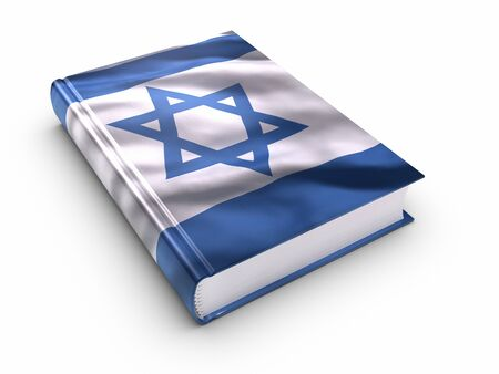 Book covered with israeli flag photo