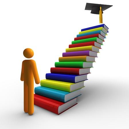 adult education: Graduation (isolated) Stock Photo