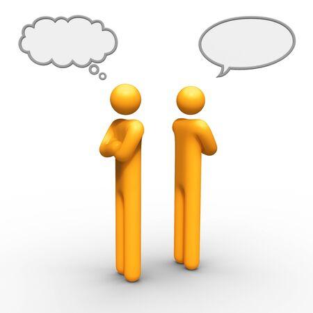 weta: myślenia i rozmawiając dymek razem można użyć, który chcesz.