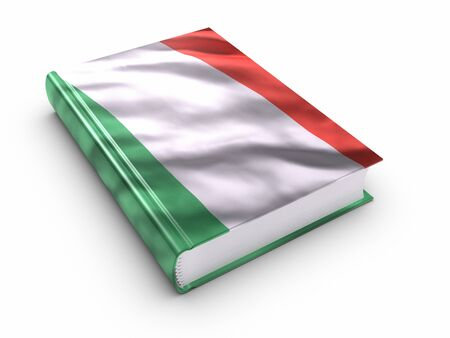 guide book: Book covered with Italian flag.