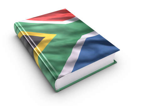 Book covered with South african flag. photo