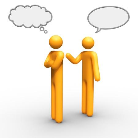 tu puedes: pensar y hablar juntos de globo puede utilizar que desea. Foto de archivo