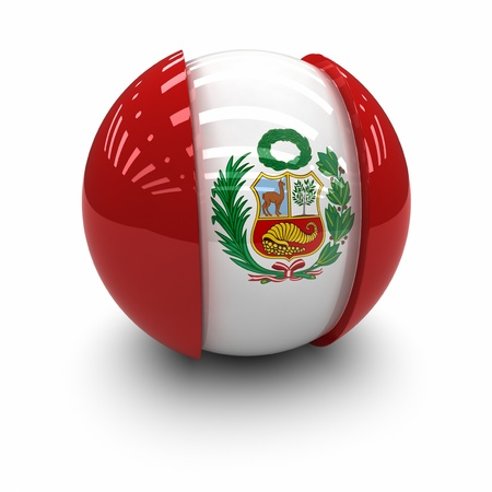 bandera peru: 3D bandera de Per�.