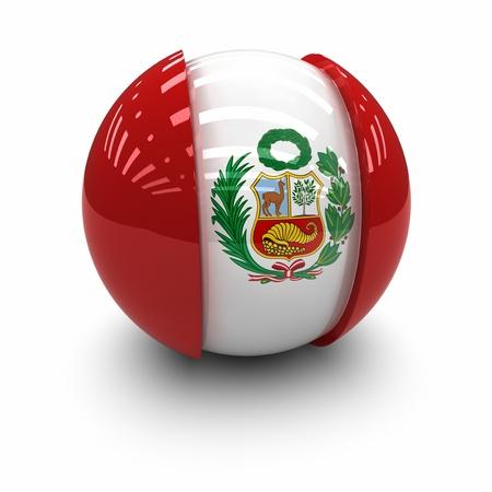 3d Flag of Peru. Stockfoto
