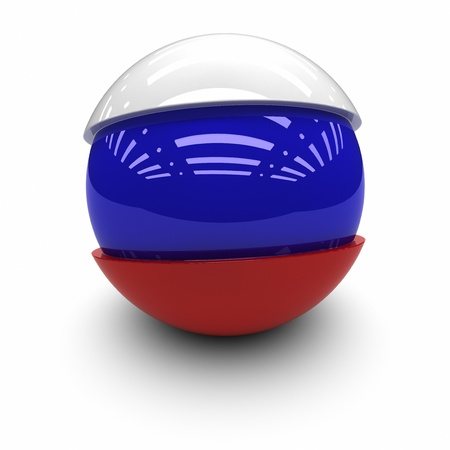 national identity: 3D  - Flag of Russia