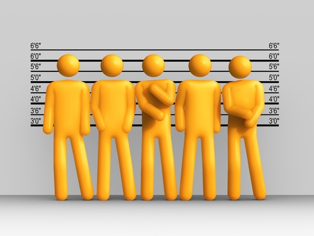 defendant: The Usual Suspects Stock Photo