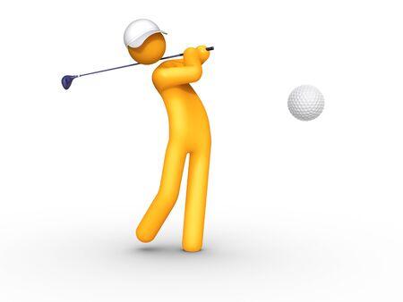 hit man: Golfer.