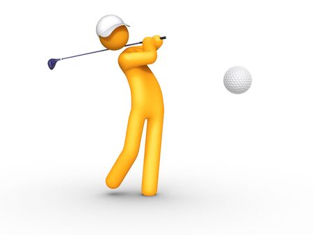 Golfspieler.