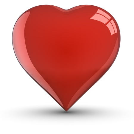 Heart Shape with shadow Stock Photo - 9646633
