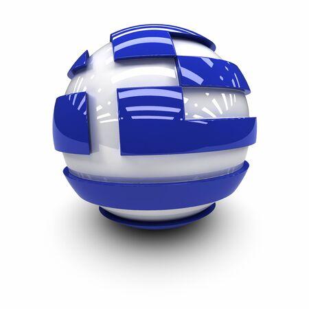 the greek flag: 3D  - Flag of Greece Stock Photo
