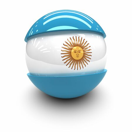 argentina flag: 3D  - Flag of Argentina Stock Photo