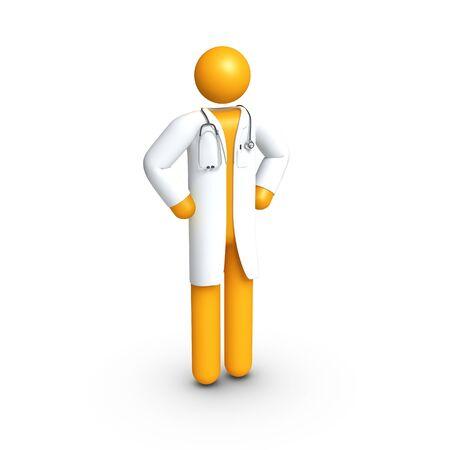 strichm�nnchen: Arzt mit Stethoskop. Lizenzfreie Bilder