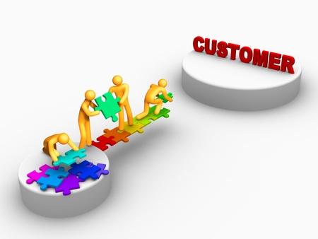 servicio al cliente: Cliente.
