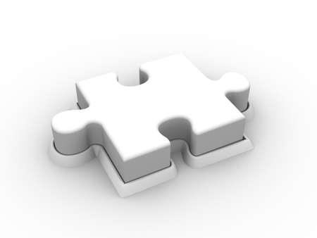 Puzzle Push Button Stock Photo - 9710599