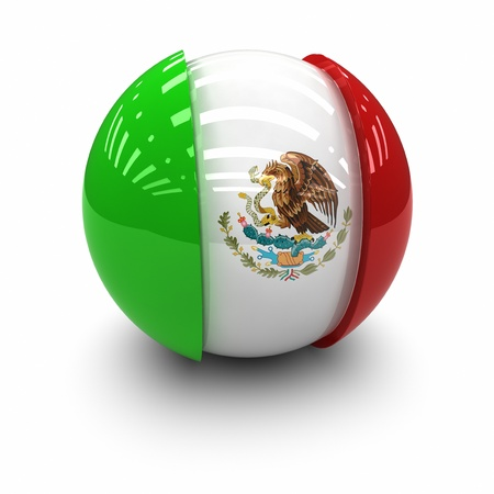mexican flag: 3D  - Flag of Mexico