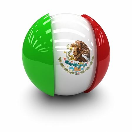 3D - Drapeau du Mexique