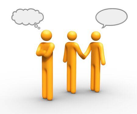 pensando y hablando juntos globo puede utilizar que desea. Foto de archivo