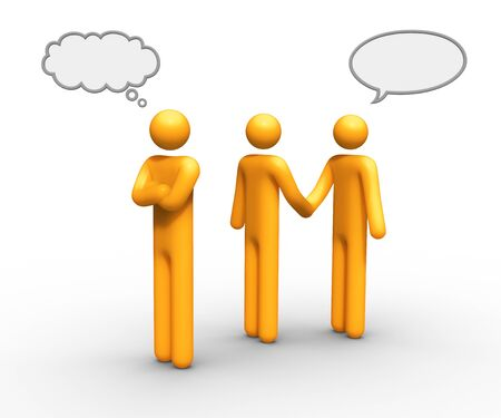 business solution: thinking and talking balloon together you can use which you want.