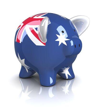 Piggy Bank - Australia (Isolated)