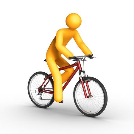 activity exercising: Biker. Stock Photo