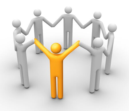 Group of People. Stock Photo - 9710609