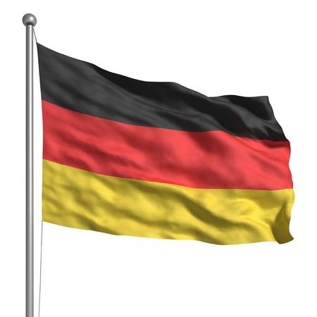 bandera alemania: Bandera de Alemania (aislado) Foto de archivo