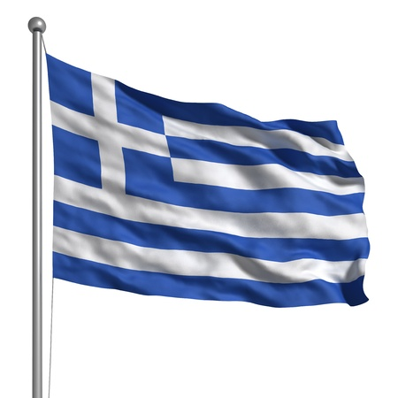 the greek flag: Flag of Greece (Isolated)