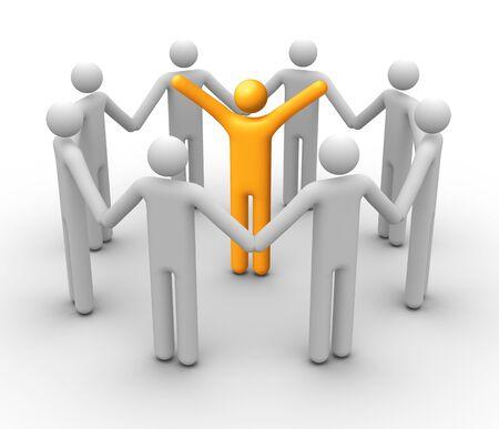 supervisores: Grupo de personas. Foto de archivo
