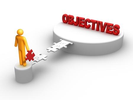 Objectives. Stock Photo - 9710897