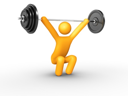 weightlifting equipment: Snatch.