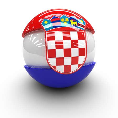 republika: 3D  - Flag of  Croatia