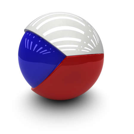 3D  - Flag of the Czech Republic Stock Photo - 9711080