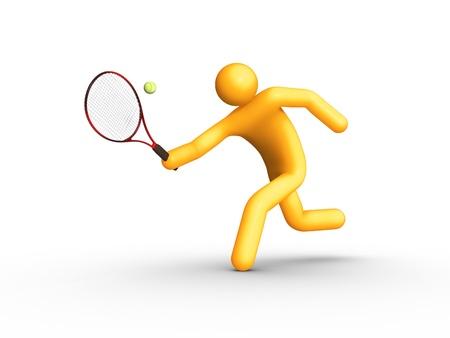 Tennis Player. photo