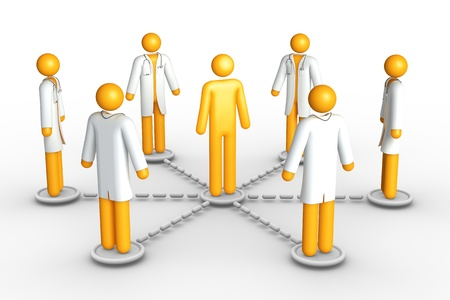 Healthcare network (isolated) Stock Photo - 9710893