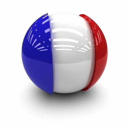 3D - Flagge von Frankreich