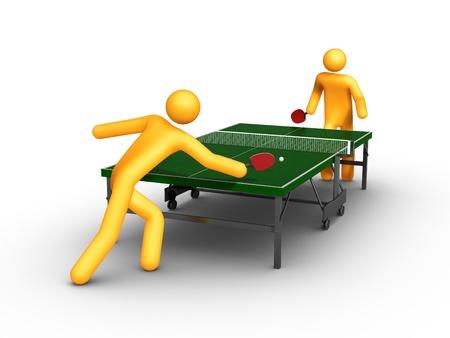 tennis de table: Tennis de table (isol�) Banque d'images