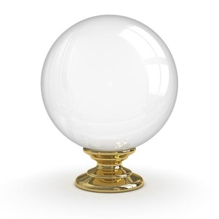Kristallen bol (Geïsoleerde) Stockfoto