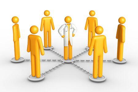 Health Network (isolated) Stock Photo - 9711087