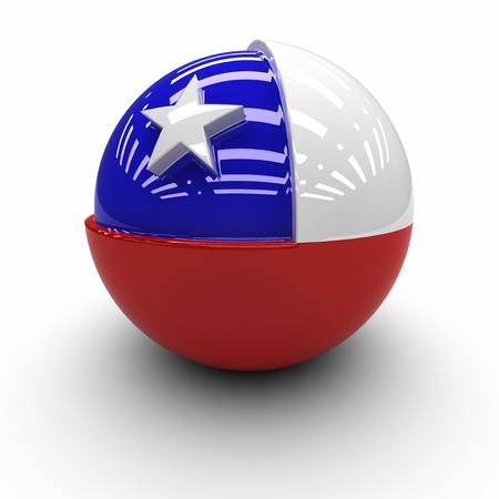 chilean flag: 3D - Bandera de Chile
