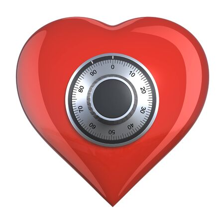 Heart with combination lock (isolated) Stock Photo - 9711205