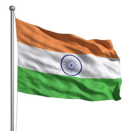 drapeau inde: Drapeau de l'Inde (isol�)