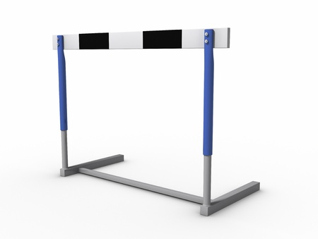Hurdle isolated on white background Banque d'images