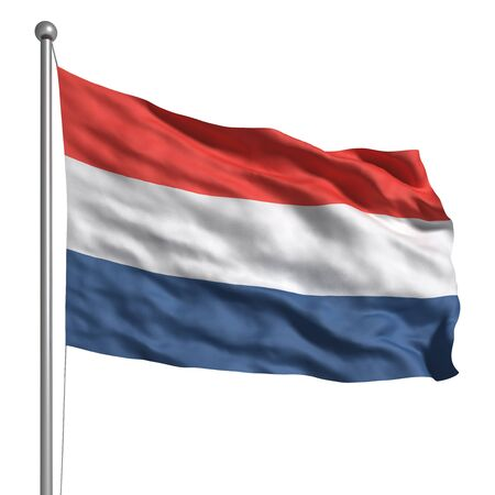flag pole: Flag of The Netherlands (Isolated)