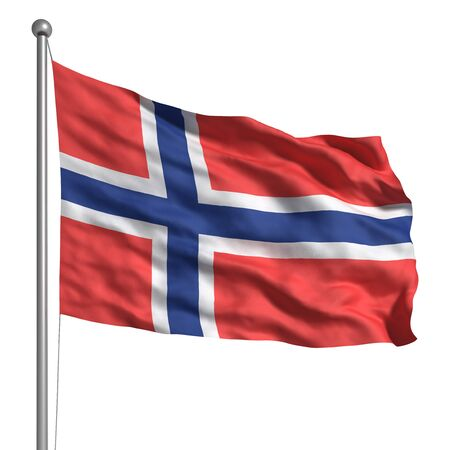Flag of Norway (Isolated) Banque d'images