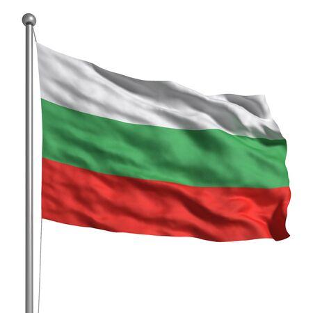 Drapeau de la Bulgarie (isolée)