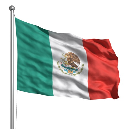 Flag of Mexico (Isolated) Stock Photo - 9711504