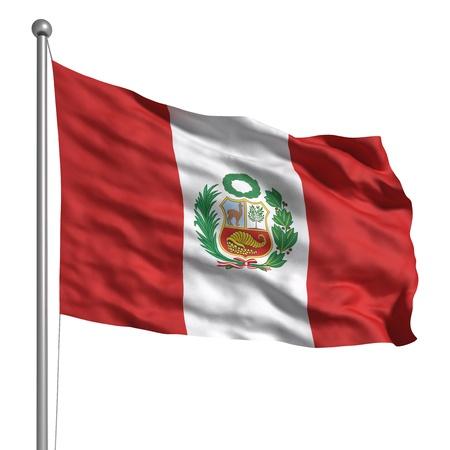 bandera peru: Bandera de Per� (aislado)
